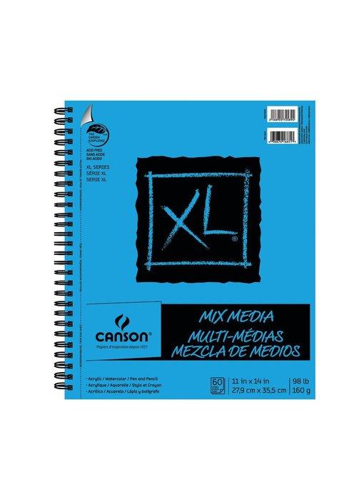 """Canson XL Mix MEDIA 11X14"""" 60SH Wirebound"""