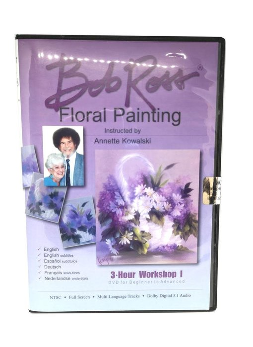 Bob Ross DVD 3hr Floral Work