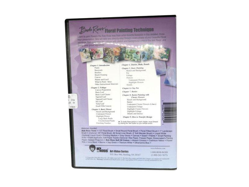 Bob Ross DVD 3hr Floral Work