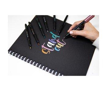 Zebra Brush Pen Metallic Deep Gold