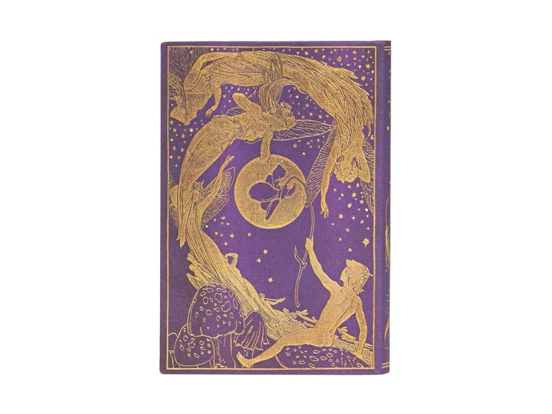 "PaperBlanks Journal 4x 5 1/2"" Unlined HC Mini Violet Lang's Fairy Books"