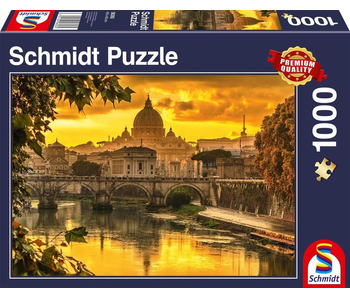 SCHMIDT PUZZLE 1000: GOLDEN LIGHT OVER ROME