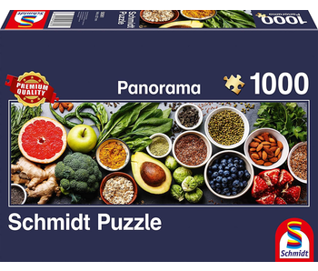SCHMIDT PUZZLE 1000 PANORAMA: ON THE KITCHEN TABLE