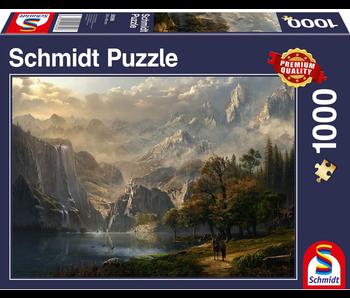 SCHMIDT PUZZLE 1000: PASTORAL WATERFALL