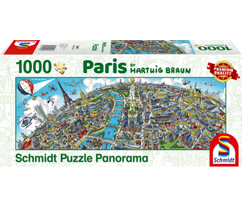 SCHMIDT PUZZLE 1000 PANORAMA: HARTWIG BRAUN - PARIS