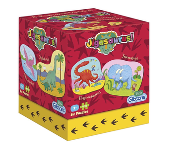 Little Gibsons Puzzle: Dinosaurs,  8 puzzles in one box!