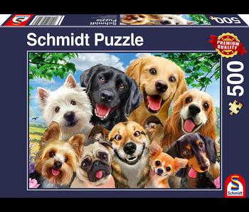 Schmidt Puzzle Puzzle 500 Dog Selfie