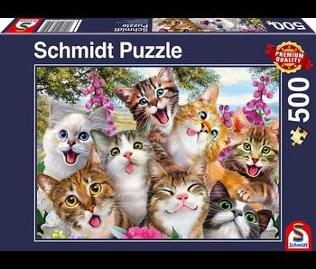 Schmidt Puzzle 500 Cat Selfie