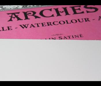 "ARCHES® Watercolour Hot Press 22 x 30"" - 300lb Bright White 5 sheet pack"