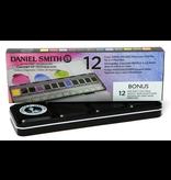 Daniel Smith Watercolour 12 Colour Hand Poured Set in a Metal Box