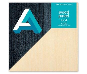 Art Alternatives Wood Panel 3/4 inch Cradled Studio Profile 4X4