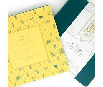 Ferris Wheel Press Always Right Notebook Racing Green 185mm x 185mm