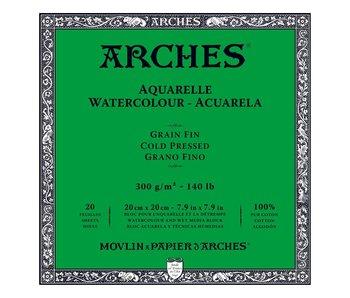 Arches Watercolour Block Cold Pressed 140LB 7.9X7.9 20SH