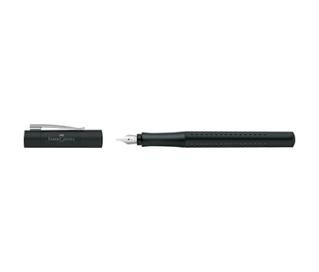 Faber Castell Grip 2011 Fountain Pen Black Medium Tip With Converter