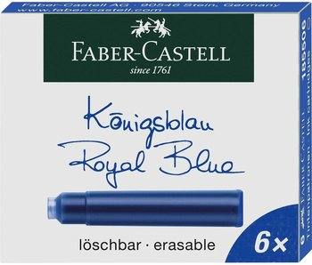 Faber Castell Ink Cartridge Royal Blue Erasable 6 Per Pack