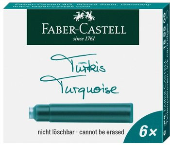 Faber Castell Ink Cartridge Turquoise 6 Per Pack