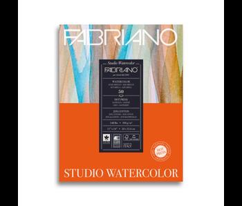 FABRIANO STUDIO WATERCOLOUR 50 SHEETS 11*14 HOT PRESS WATERCOLOR PAPER 25% COTTON