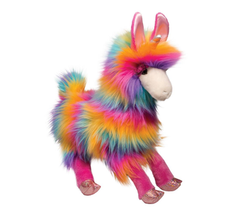 DOUGLAS CUDDLE TOY PLUSH LOLLIPOP RAINBOW FUZZLE LLAMACORN