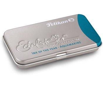 Pelikan Edelstein Ink Cartridge Aquamarine 6 Per Tin
