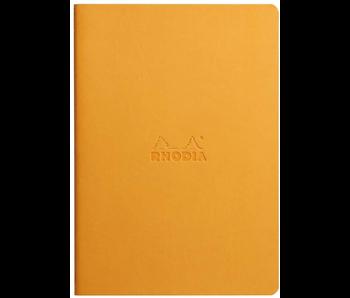 Rhodia Rhodiarama Sewn Spine Notebook Lined 5.5x8.5 Orange