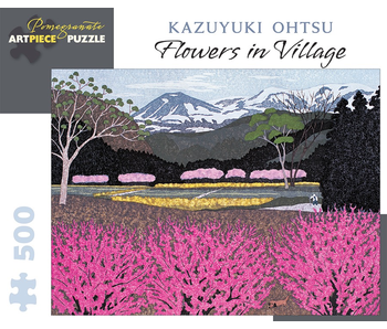 POMEGRANATE ARTPIECE PUZZLE 500 PIECE: KAZUYUKI OHTSU FLOWERS IN VILLAGE