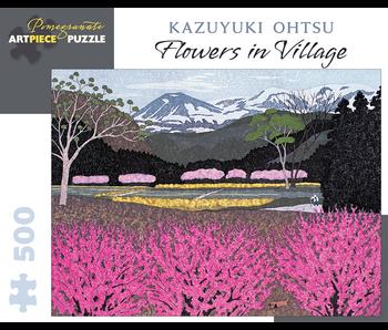 POMEGRANATE ARTPIECE PUZZLE 500 PIECE: KAZUYUKI OHTSU FLOWERS IN VILLAGE