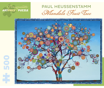 POMEGRANATE ARTPIECE PUZZLE 500 PIECE: PAUL HEUSSSENSTAMM MANDALA FRUIT TREE