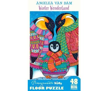 POMEGRANATE KIDS 2X3 FEET 48 REALLY BIG PIECES FLOOR PUZZLE: WINTER WONDERLAND