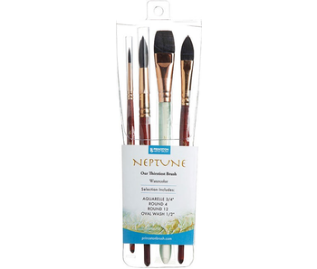 PRINCETON NEPTUNE WATERCOLOR BRUSHES 4 PACK