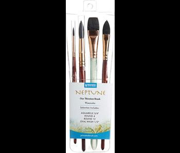 Princeton Neptune Watercolour Brushes 4 Pack