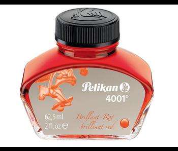 PELIKAN 4001 FOUNTAIN PEN INK 30ML BRILLIANT RED