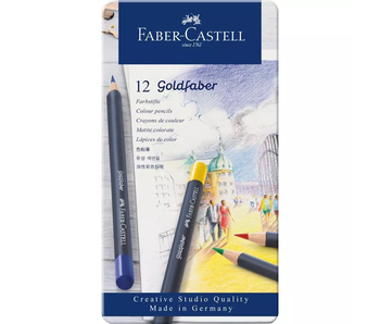 Faber Castell Goldfaber Coloured Pencils Tin of 12
