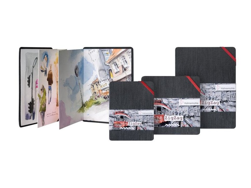 Hahnemuhle The Zig Zag Book Watercolour Book A5 140LB Watercolour Accordian-Style Book