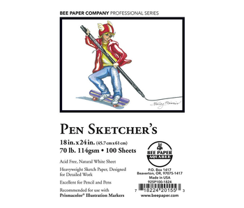 BEE PAPER PEN SKETCHER'S SKETCHERS 18x24 INDIVIDUAL SHEETS