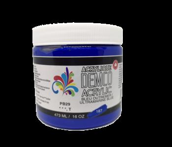 Demco 16OZ 473ML Acrylic Ultramarine Blue