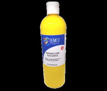 Demco 16OZ 473ML Fluid Acrylic Cadmium Yellow Medium Hue ( Primary Yellow)