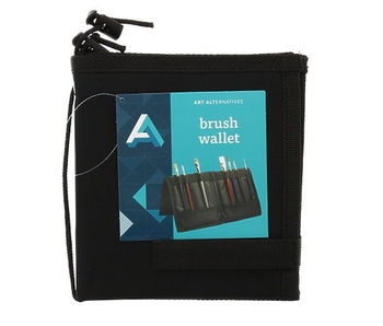 ART ALTERNATIVES BRUSH WALLET CARRY-ALL SOLUTION