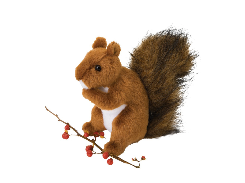 Douglas Cuddle Toy Plush Roadie Red Squirrel Endeavours And Thinkplay