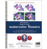 STRATHMORE LEARN TO PAINT WATERCOLOR FLOWERS PAD 9x12