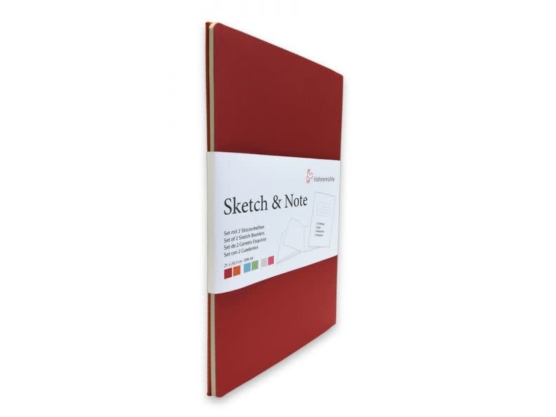 Hahnemuhle Sketch & Note Booklets 125gsm 20 sh/40 pg Book - Red Bundle 4.13 X 5.83""