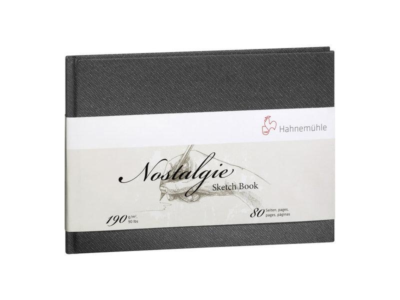 """Hahnemuhle Nostalgie Hard Cover Sketch 40 sheet/80 page book, landscape 8.27 x 5.83"""""""
