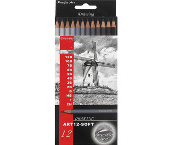 Pacific Arc 12 Piece Drawing Pencil Set