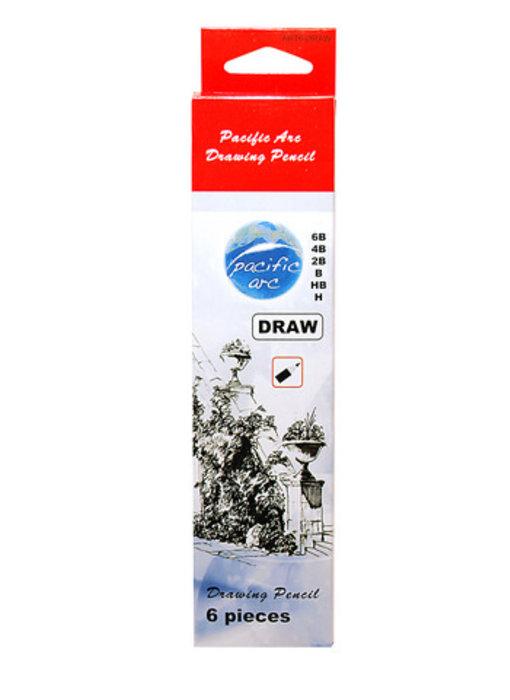 Pacific Arc 6 Piece Drawing Pencil Set