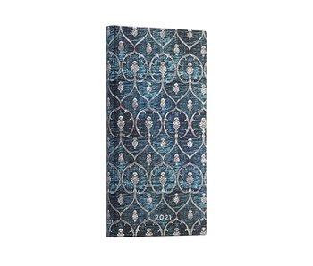 PaperBlanks Blue Velvet Slim Lined