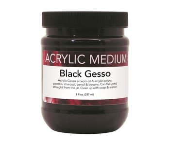 ART ADVANTAGE ACRYLIC MEDIUM 8 OZ BLACK GESSO