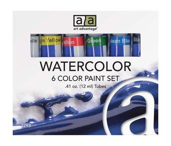 ART ADVANTAGE WATERCOLOUR 12ML 6 TUBE SET
