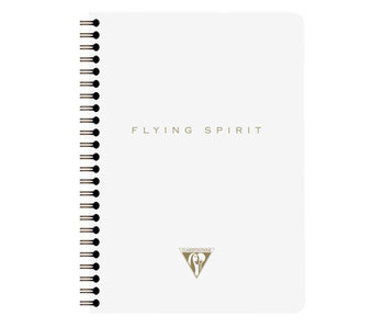 CLAIRE FONTAINE FLYING SPIRIT NOTEBOOK LINED 6x8 BEIGE