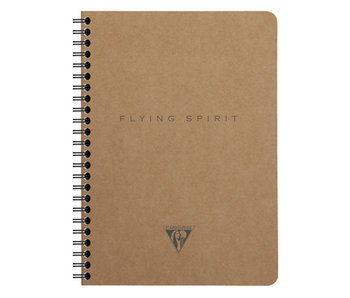 CLAIRE FONTAINE FLYING SPIRIT NOTEBOOK LINED 4x7 BEIGE