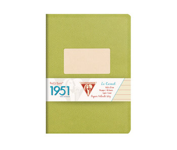 CLAIRE FONTAINE BACK TO BASICS NOTEBOOK 3x5 LINED Green