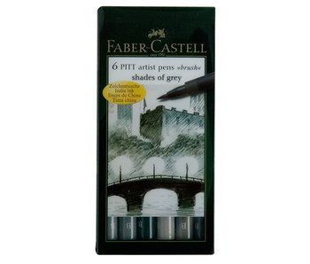 Faber Castell Pitt Pen 6 Set Shades of Grey